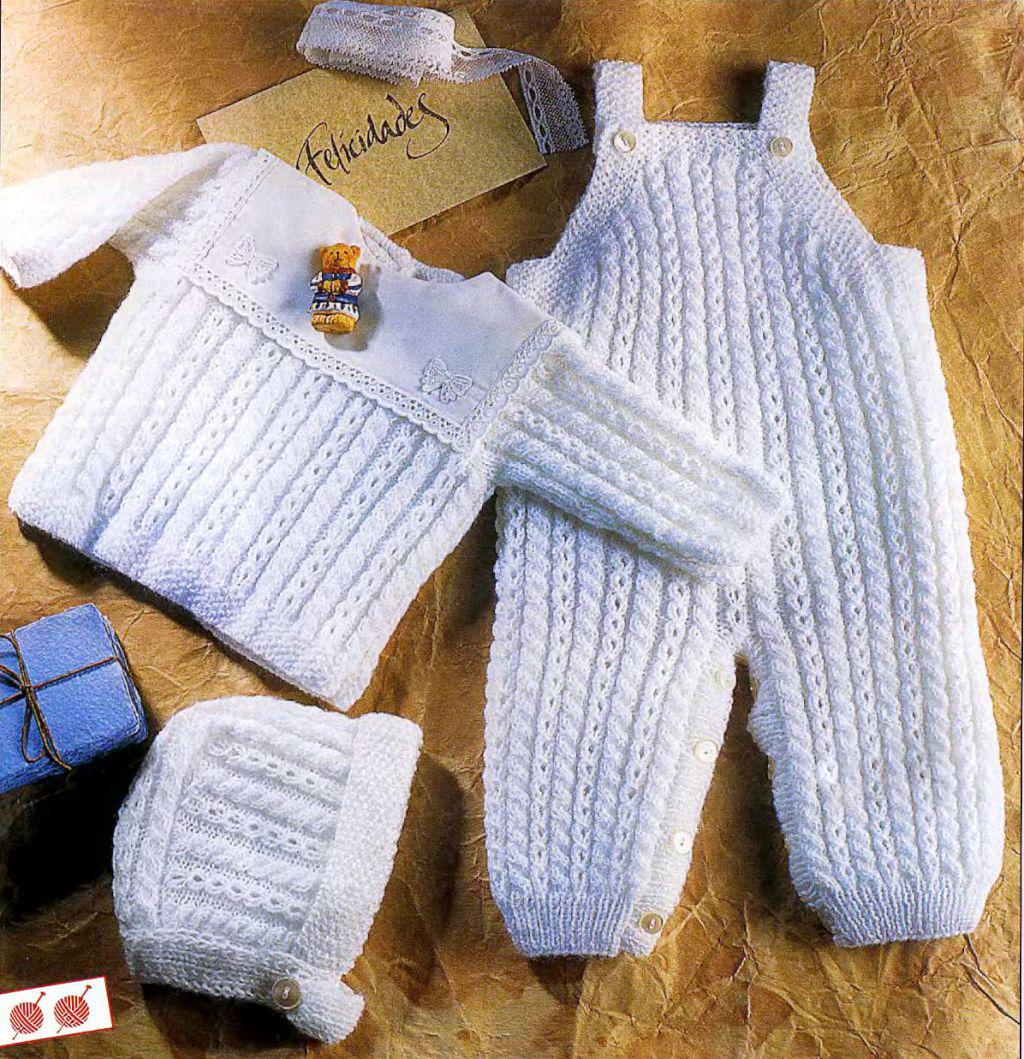 вязаные костюмы для новорожденного схема и описание