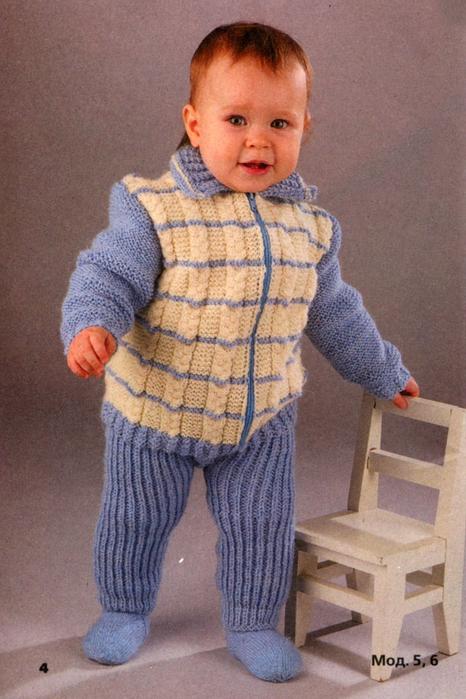 Костюмчик для новорожденной девочки и мальчика спицами Вязание детских костюмчиков для девочек крючком
