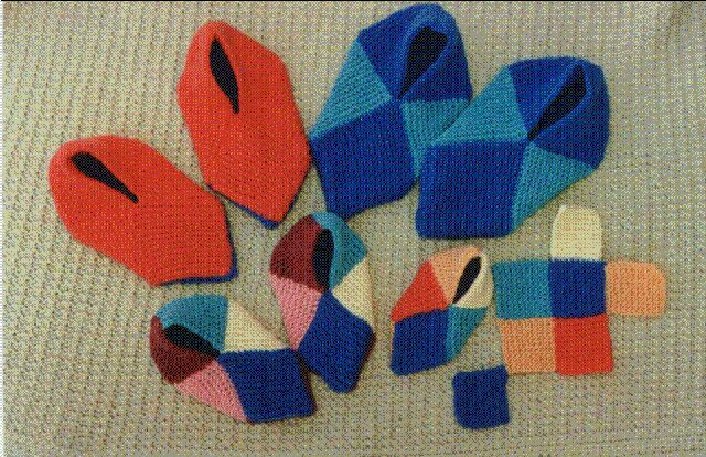 Вязание носков из квадратиков спицами 93