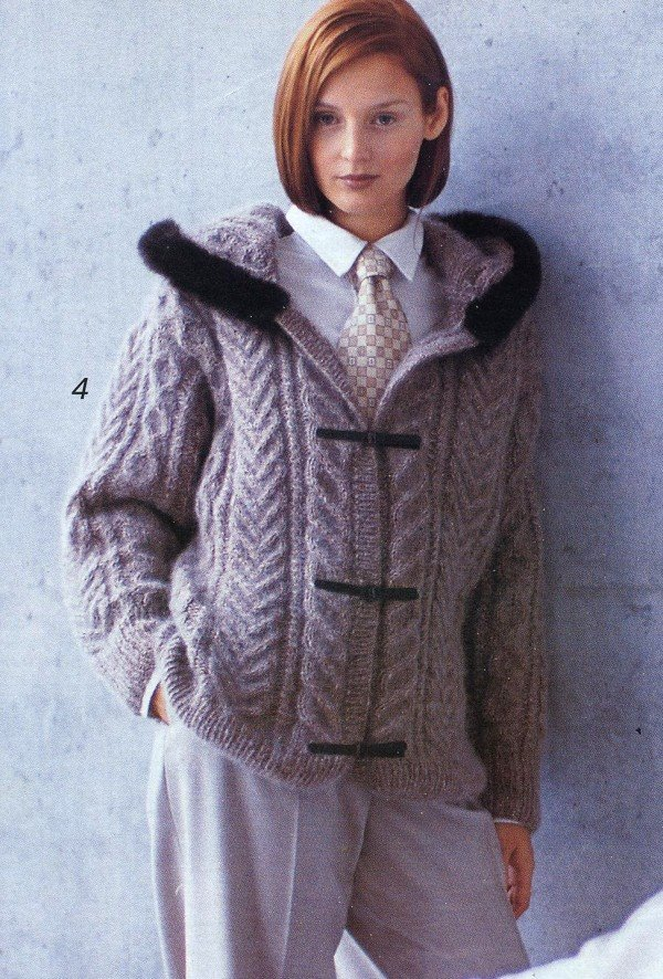 Вязание крючком куртка женская 88