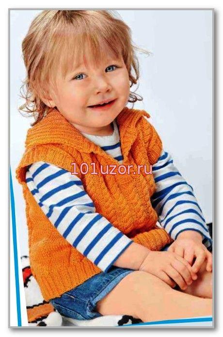 Вязание варежек спицами для детей от 3 лет 55