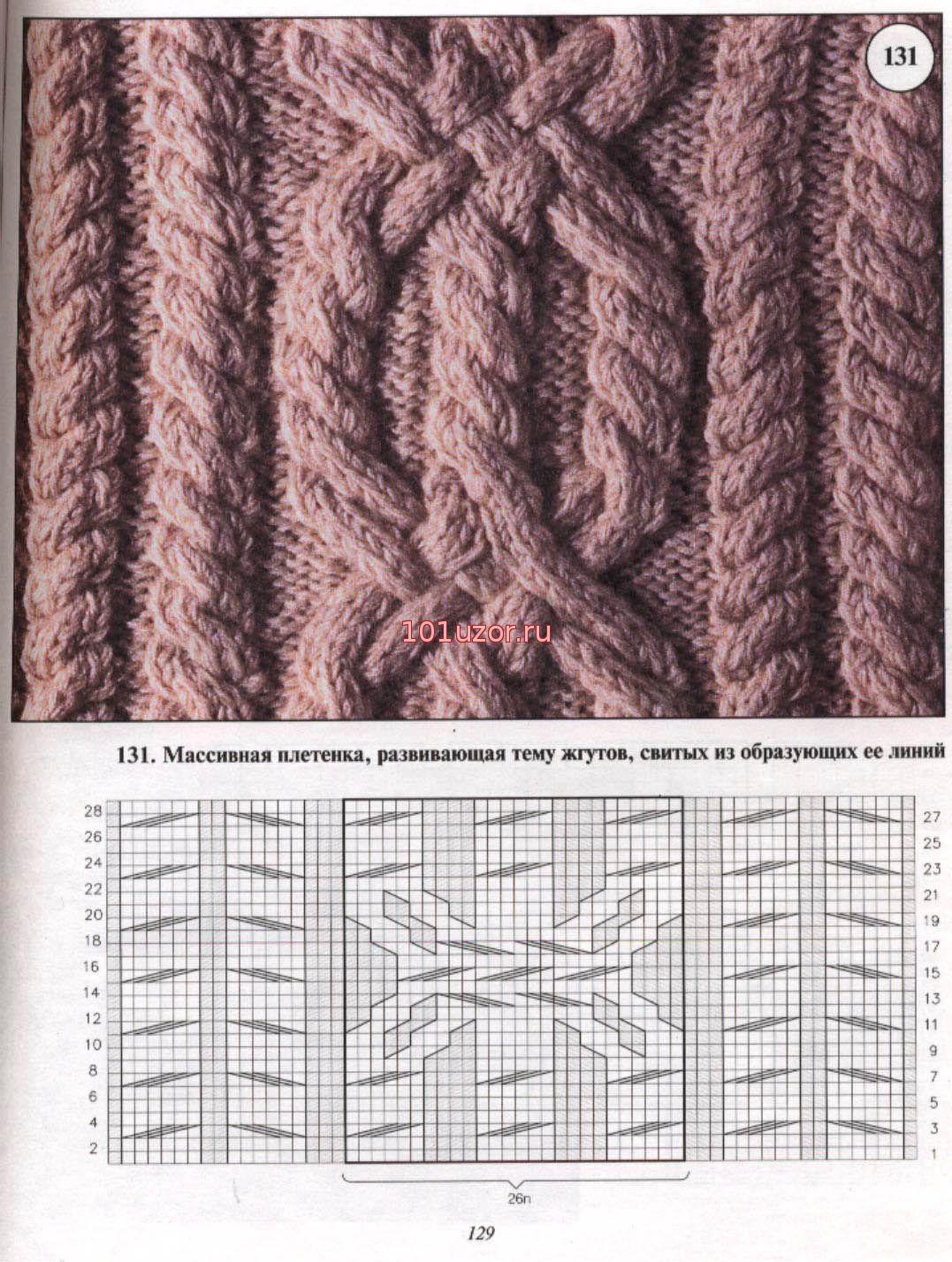 Узоры кос и жгутов спицами - Модное вязание Араны. - Pinterest 93